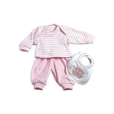 ADORAble Baby Doll Clothes & Outfits - 3 Pc. Layette Set Pink