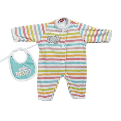 Adora Baby Doll Dresses & Clothes - GiggleTime - Stripe Elephant