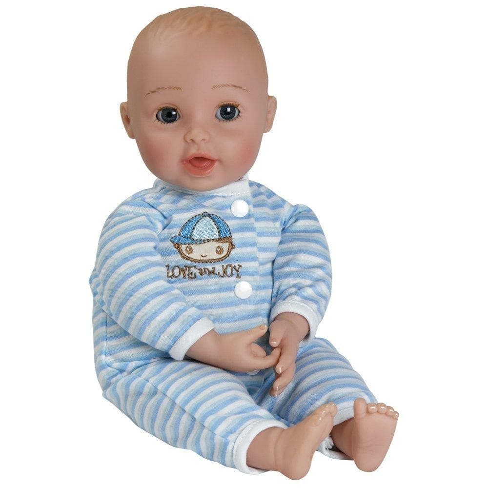 realistic vinyl baby doll giggletime boy for ages 2 adora