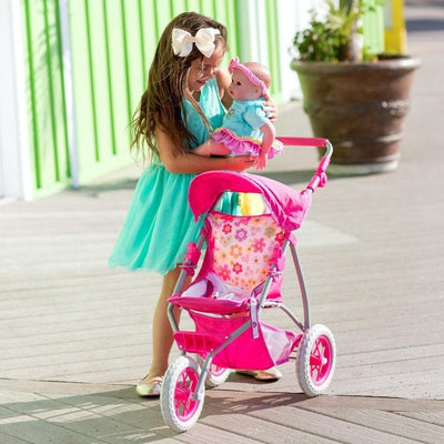 "Adora Baby Doll Stroller 3-Wheel Shade Jogger, Fits 15-20"" Baby Dolls"