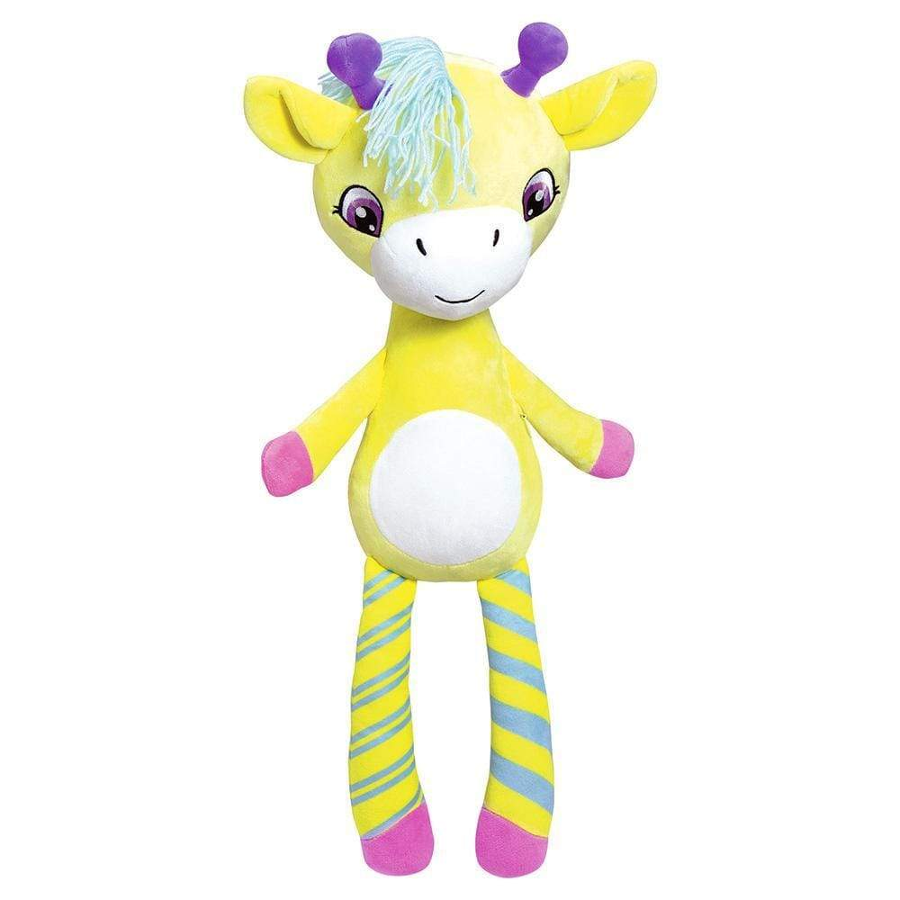 Giraffe Stuffed Animal Giselle Zippity Hug N Hide Yarn Hair Adora