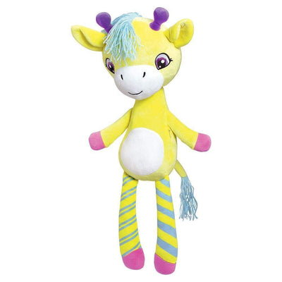 "Giraffe Stuffed Animal ""Giselle"" Zippity Hug N Hide, Yarn Hair 