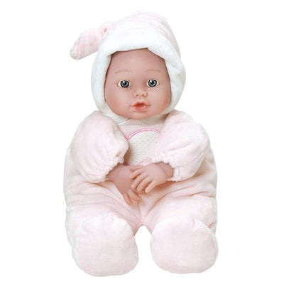 "Cuddle Baby Pink PJs - 12"" Boy Soft Body Baby Doll for Infants 