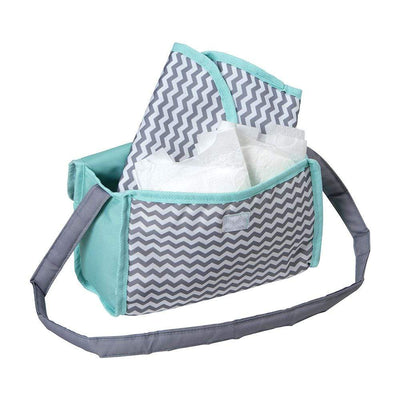 Zig Zag Doll Diaper Bag with Changing Mat & Feeding Bottle -  Adora