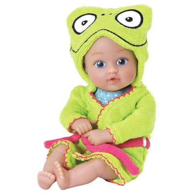 "Adora 8.5"" Bathtime Baby Tot Frog - Washable, Soft & Cuddly Baby Doll for Ages 1+"