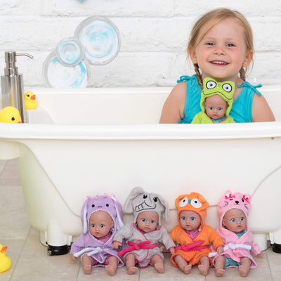 """Frog"" BathTime Baby Tot - 8.5 inch, Sweet ADORAble face 