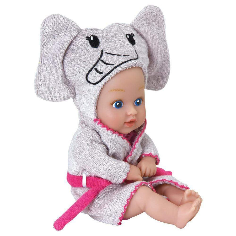 "Adora 8.5"" Bathtime Baby Tot Elephant - Washable, Soft & Cuddly Baby Doll for Ages 1+"