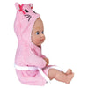 "Adora 8.5"" Bathtime Baby Tot Kitty - Washable, Soft & Cuddly Baby Doll for Ages 1+"