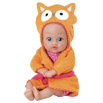 "Adora 8.5"" Bathtime Baby Tot Owl - Washable, Soft & Cuddly Baby Doll for Ages 1+"