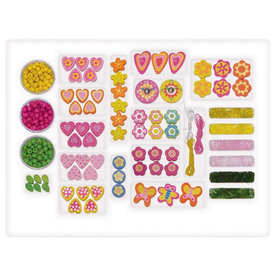 Little Girl Jewelry Set - Crafty Girl Deluxe Wooden Jewelry Kit | Adora