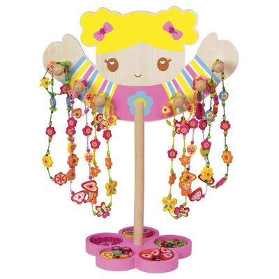 Crafty Girl - Children's Wooden Jewelry Kit, Beads & Charms, w/ Stand
