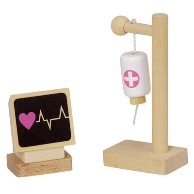 "11-pc. ""Owie Hospital"" Wooden Toy Play Set for Imaginative Pretend Play"