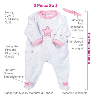 Adora Baby Doll Clothes - 2 piece Adaption Fashion Shining Star 16""