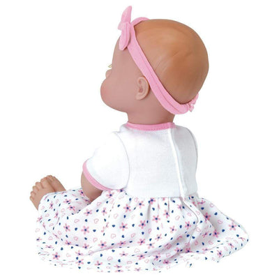 "Adora 13"" Washable Soft Baby Doll for Toddlers - Playtime Baby Petal Pink, Ages 1+"