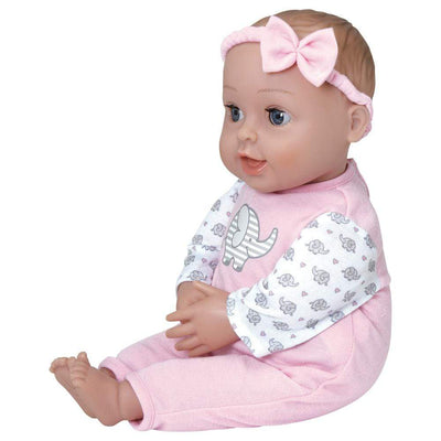 5-Piece Baby Gift Set includes 1 GiggleTime Baby Doll & 4 Accessories