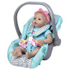 Zig Zag Car Seat Carrier -Removable Seat Cover - Fits Doll up to 20""
