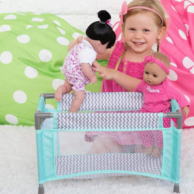 Zig Zag Playpen Bed - Baby Doll Crib - Fits Doll up to 20"