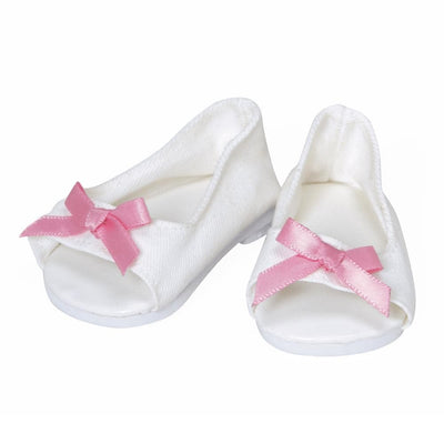 Adora ToddlerTime Baby Doll Shoes - White Summer Sandals