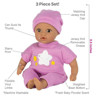 Adora Soft Baby Doll for Toddlers - Baby Tot Starry Night 8.5 inches