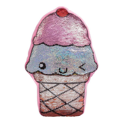 Flip-Out! Sequin Plush Pillow - Play Ice Cream