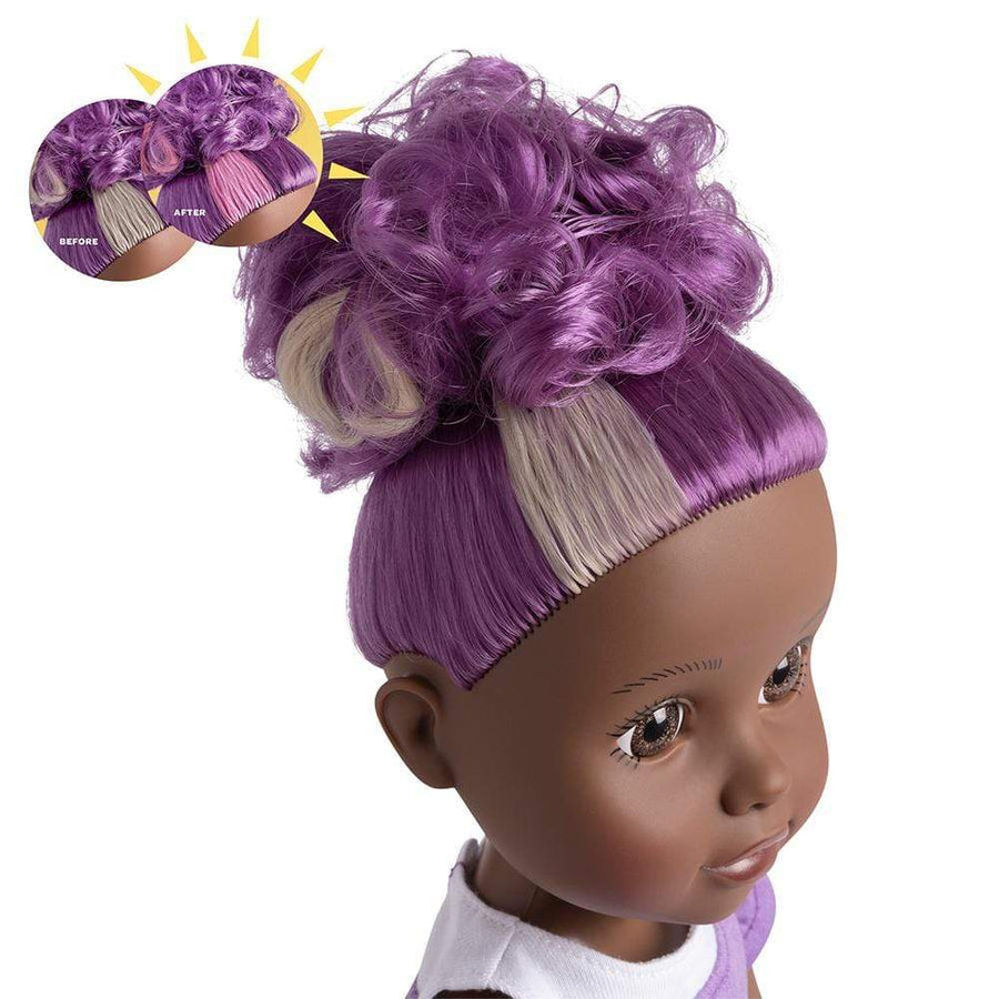 "Adora 14"" Doll-Be Bright Doll Savannah Lion, Hair Color Changes in Sun"