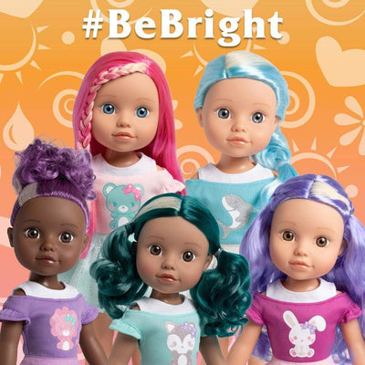 "Adora 14"" Doll-Be Bright Doll Alma Wolf, Hair Color Changes in the Sun"