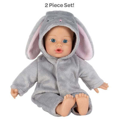 Adora Soft Baby Doll for Toddlers - Funsie Onesie Baby Bunny 11 inches