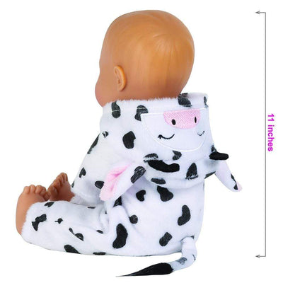 Adora Soft Baby Doll for Toddlers - Funsie Onesie Baby Cow 11 inches