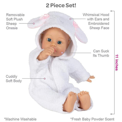 Adora Soft Baby Doll for Toddlers - Funsie Onesie Baby Sheep 11 inches