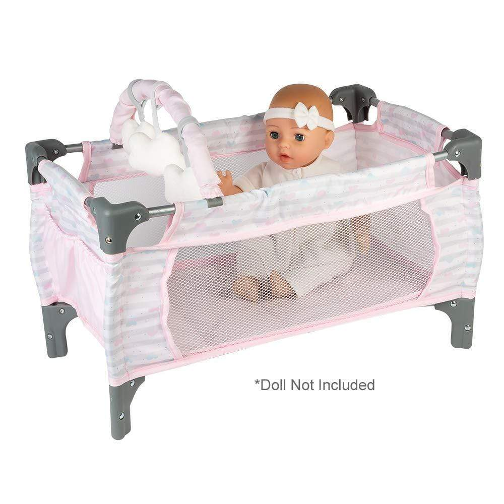 Adora Baby Doll Crib - Pink Deluxe Pack N Play for Adora Dolls