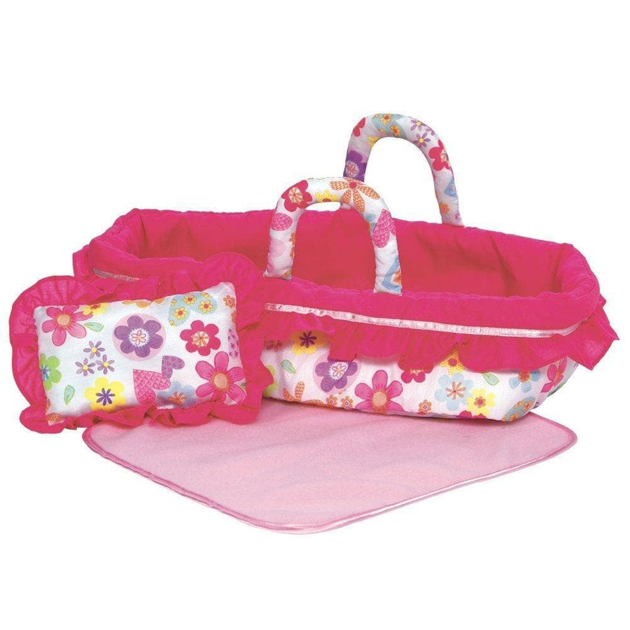 "Adora Baby Doll Accessories Baby Doll Bed, fits 12-16"" Baby Dolls"