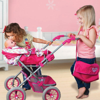 Adora Baby Doll Deluxe Stroller, Fits 20 inch Toddlers and Baby Dolls
