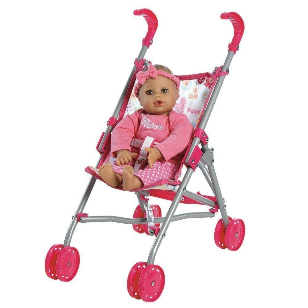 Small Umbrella Baby Doll Stroller Fits 13 Inch Baby Doll