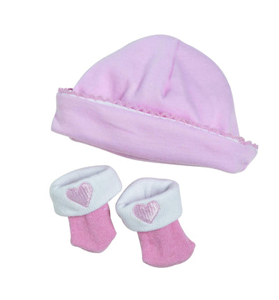 ADORAble Baby Doll Clothes & Outfits - Hat Sock Set Pink