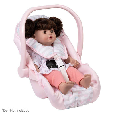 Adora Baby Doll Accessories - Pastel Pink Doll Car Seat Carrier