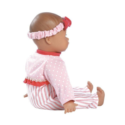Adora Baby Doll Clothes, Baby Doll Dresses - Pink Stripe Sleeper