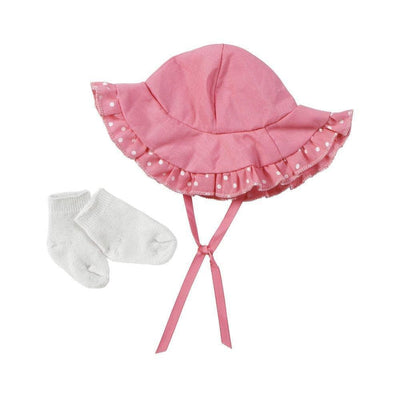 "Adora Baby Doll Accesories - Sun Hat And Sock Set for 13"" Dolls"