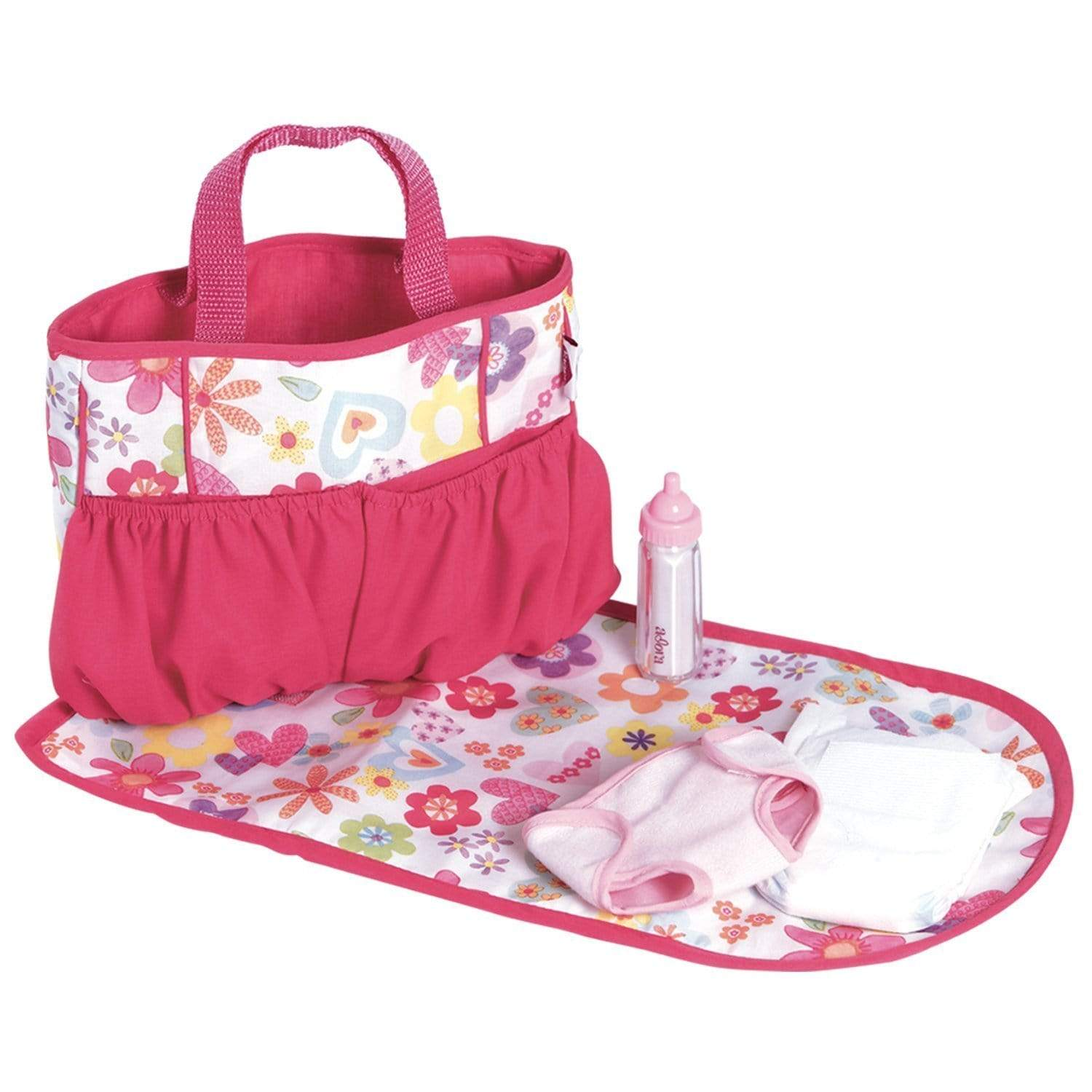 Diaper Bag With Baby Doll Accessories Changing Mat