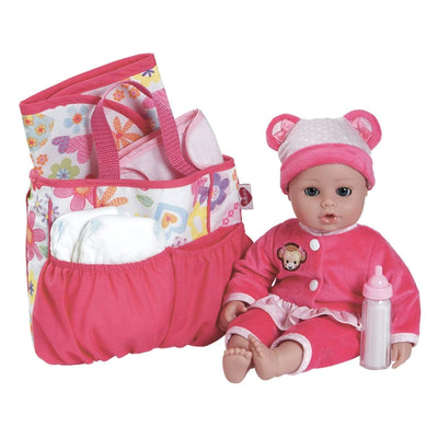 Adora Baby Doll Accessories Diaper Bag With Baby Doll Accessories
