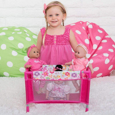 "Adora Baby Doll Playpen Bed - Baby Doll Crib - Fits 13-20"" Baby Dolls"
