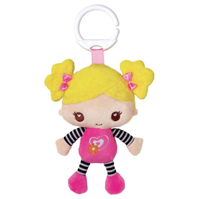 """Bubble Gum"" Clip on Friend - Ultra-Soft Microfiber Plush Doll 