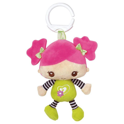 "Clip on Friend ""Sour Apple"" Soft Doll Perfect for Strollers & CarSeats"