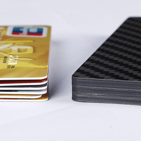 Real Carbon Fiber Slider Wallet - 5 Layer