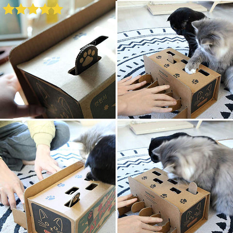 Whack-a-Paw Cat Punch Box Game