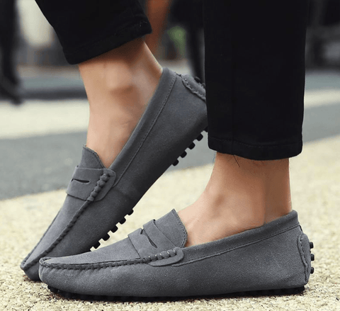 SLIP-ON LOAFERS (GREY)