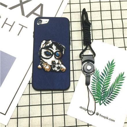 Adorable Puppy Embroidery Case for iPhone X