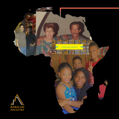 Ricky Adamus, Afro-Colombian Family. Mom, Dad, Wife, Children
