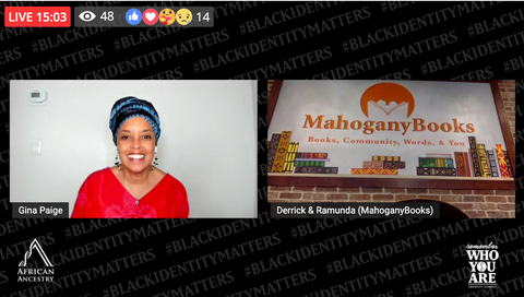 Dr. Gina Paige meets with Derrick and Ramunda of Mahogany Books