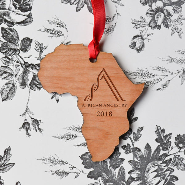 Wooden Africa Holiday Ornament