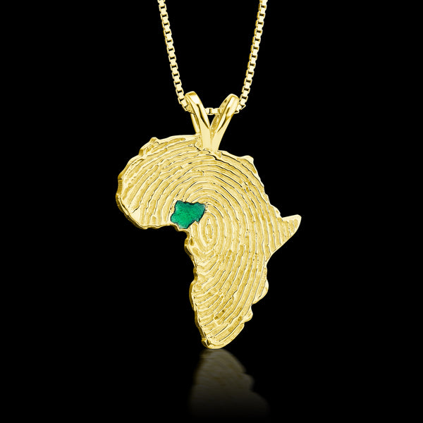 Nigeria Heirloom Pendant -  14K Yellow Gold 43mm